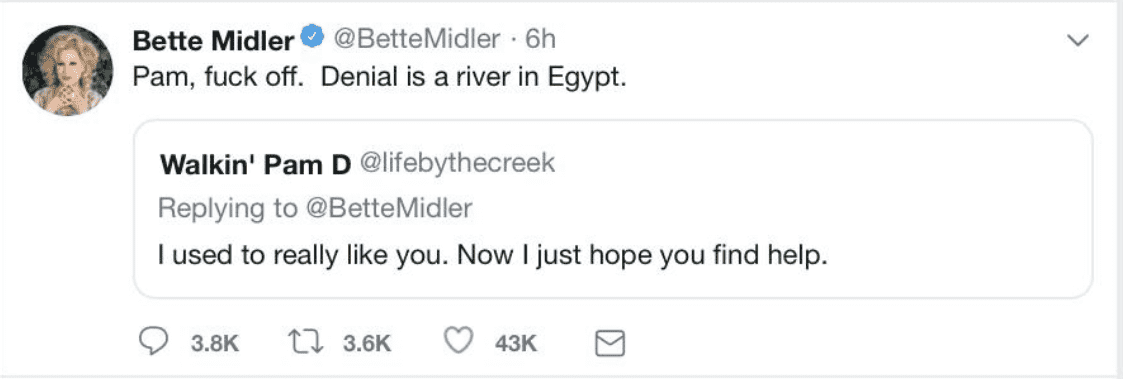 Bette Midler Slams Trump Over Fourth of July Event, Says He's