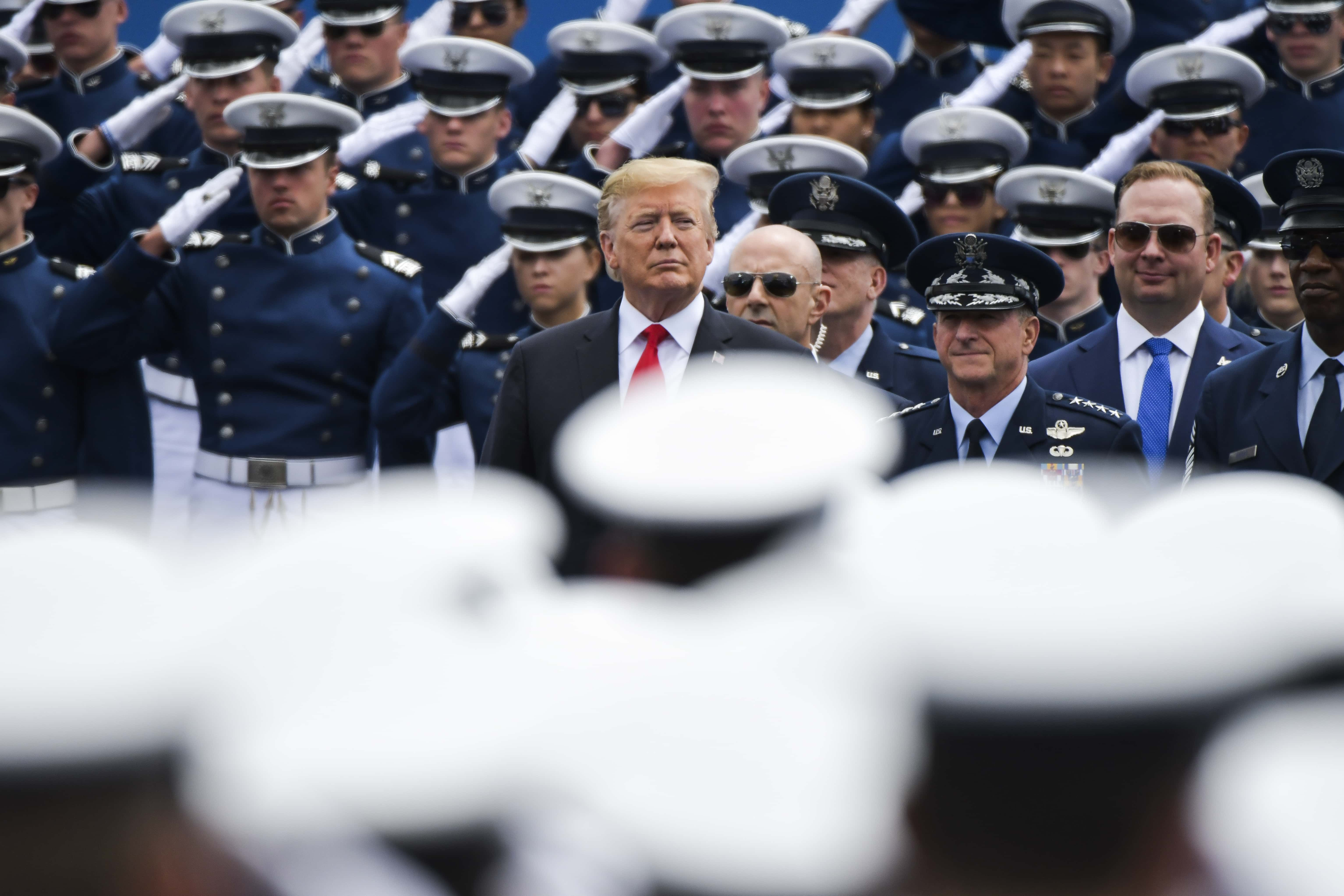 Trump Stays Back To Shake Hands With ALL 1,000 Graduating